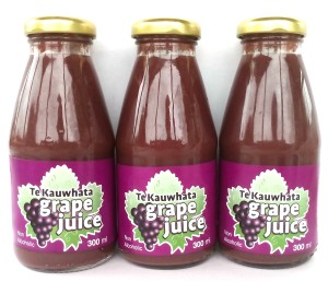 300ml bottles of dark organic grapejuice